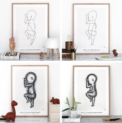The birth poster - meerdere versies