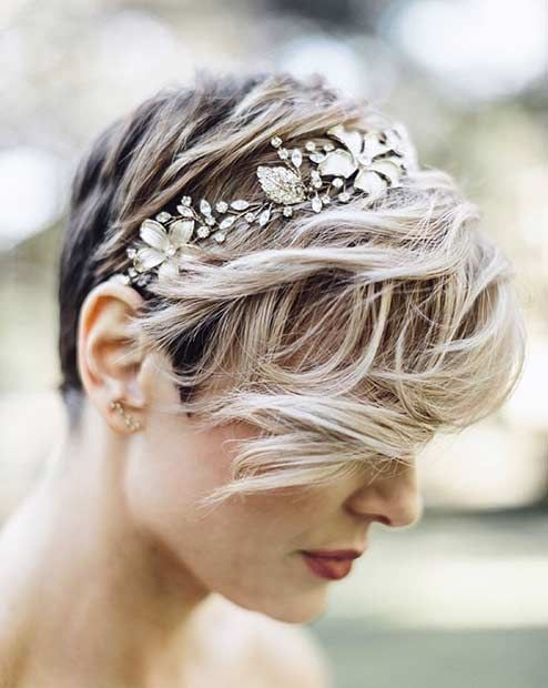 De perfecte hairdo's voor een bruiloft short hair 1
