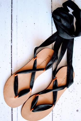 Raramuri sandalen black ribbon 1