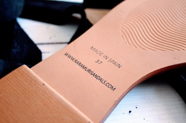 Raramuri sandalen black ribbon 5