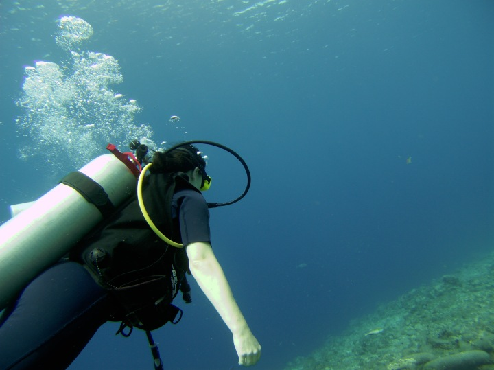 Lotte's eerste duikervaring
